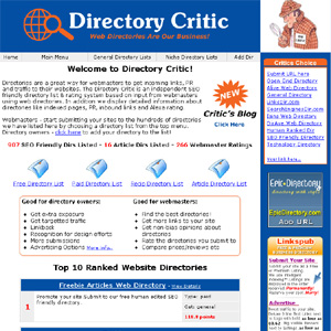 Directory Critic - Link Building Resources