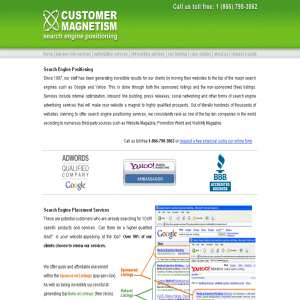 Search Engine Positioning - Customer Magnetism