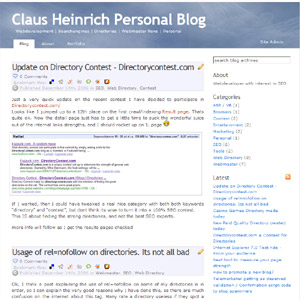 Webmaster Blog about SEO - Directories and Marketing